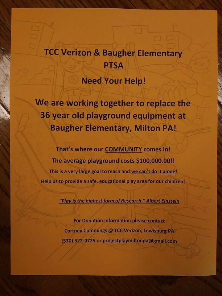 sept playground fundraiser flyer